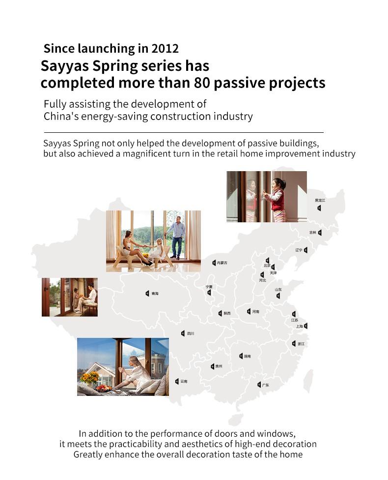Sayyas Spring Aluminum-clad Wood Air Conditioning Window | P120
