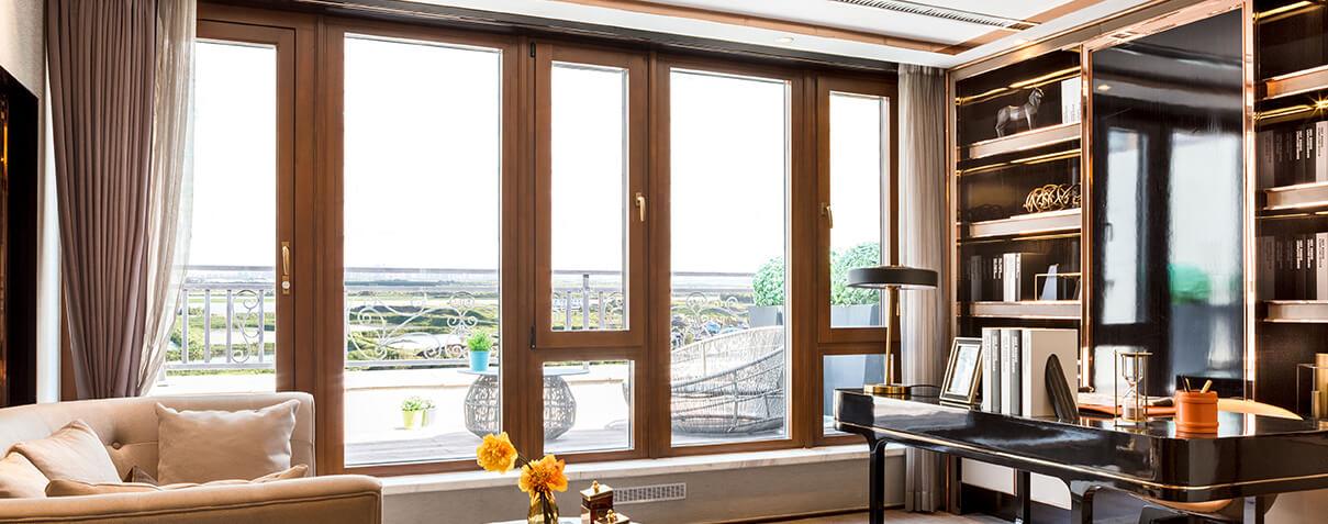 Sayyas 1# Aluminum-clad Wood Air Conditioning Window | S101