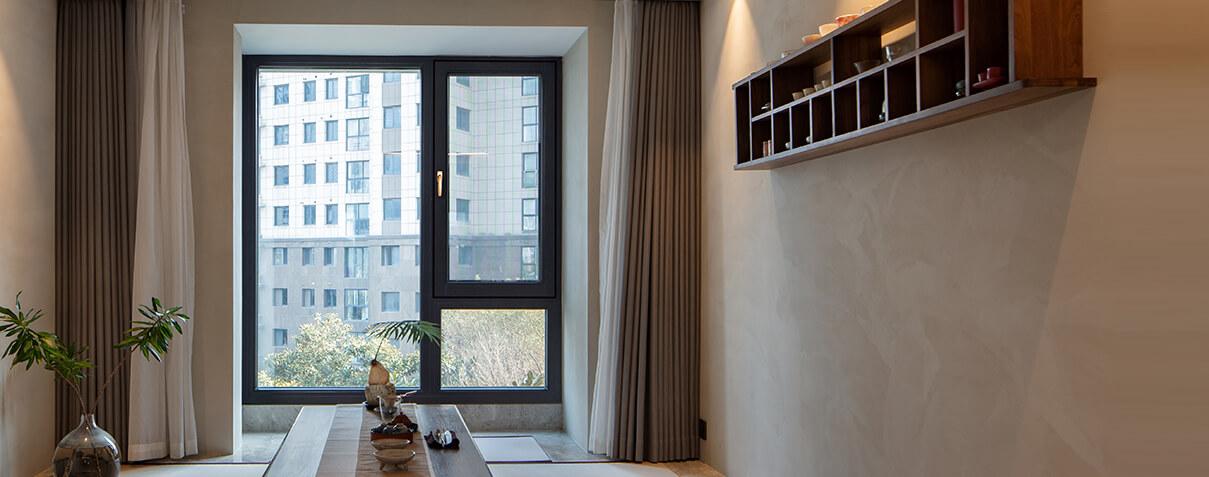Sayyas 1# New Flat Aluminum-clad Wood Air Conditioning Window | S120