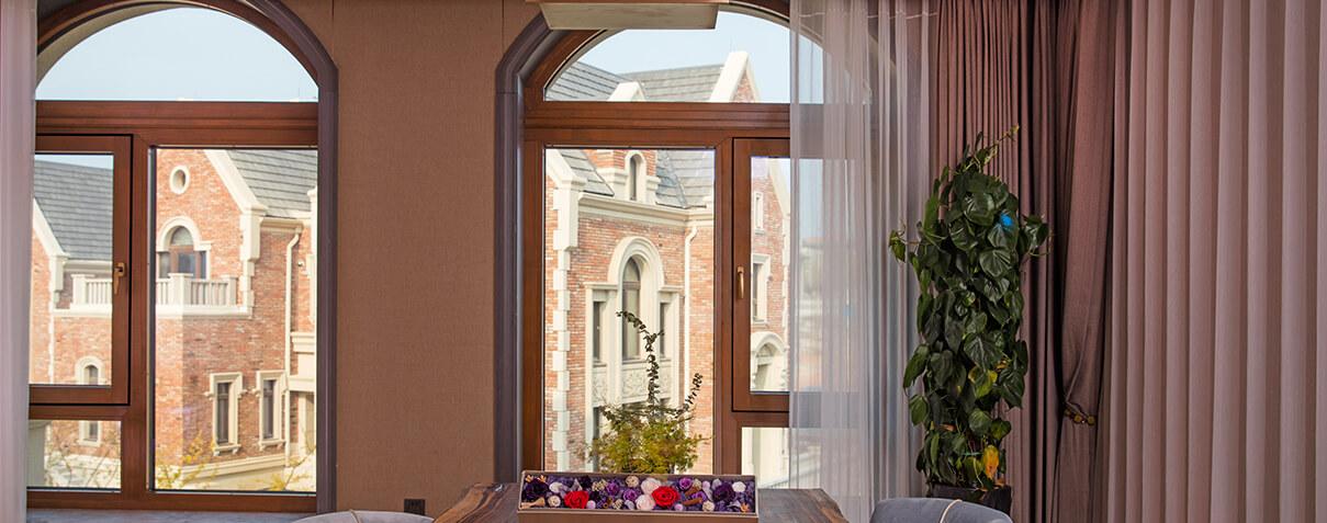 Sayyas Spring Aluminum-clad Wood Air Conditioning Window | P135